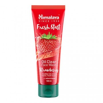 Himalaya Fresh Start Oil Clear Strawberry Face Wash Lip Care