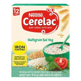 Nestle Nestle Cerelac Fortified Baby Cereal With Milk, Multigrain Dal Veg - From 12  Baby food