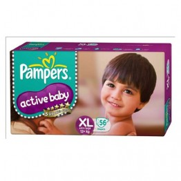 Pampers Active Baby Diaper - XL,12+ kg Wipes & Diapers