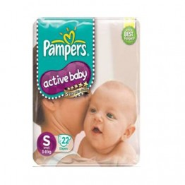 Pampers Disposable Diapers - Small (3-8 kgs) daily Use