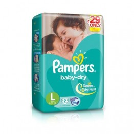 Pampers Baby Dry Diapers - Large (9-14 kgs)  daily Use