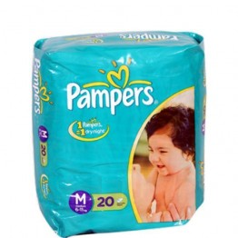 Pampers Disposable Diapers - Medium (6-11 kgs) Wipes & Diapers