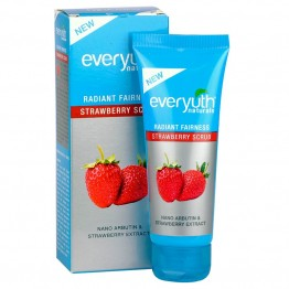 Everyuth Radiant Fairness Scrub - Strawberry Scrubs & Face Pack