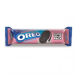 Cadbury Oreo - Strawberry Creme Flavored Cream Biscuits