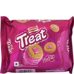 Britannia Treat - Strawberry Biscuits Cream Biscuits