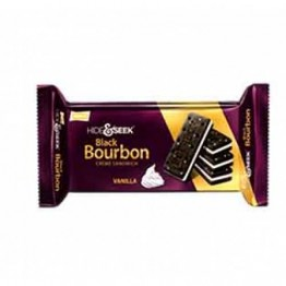 Parle Hide & Seek - Black Bourbon Cream Sandwich Vanilla Cream Biscuits