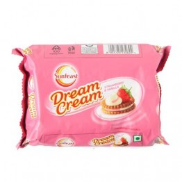 Sunfeast Cream Biscuits - Strawberry & Vanilla Cream Biscuits