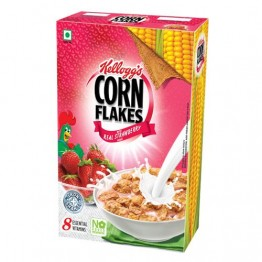 Kelloggs Corn Flakes - Real Strawberry Puree Breakfast Cereals