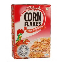 Kelloggs Corn Flakes - Real Strawberry Breakfast Cereals