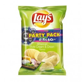 Lays Potato Chips - American Style Cream & Onion Flavour (Party Pack) Chips