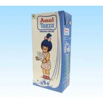 Amul Taaza Homogenised Toned Milk daily Use