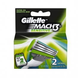 Gillette Cartridges - Mach 3 Turbo Sensitive Blades and Razor
