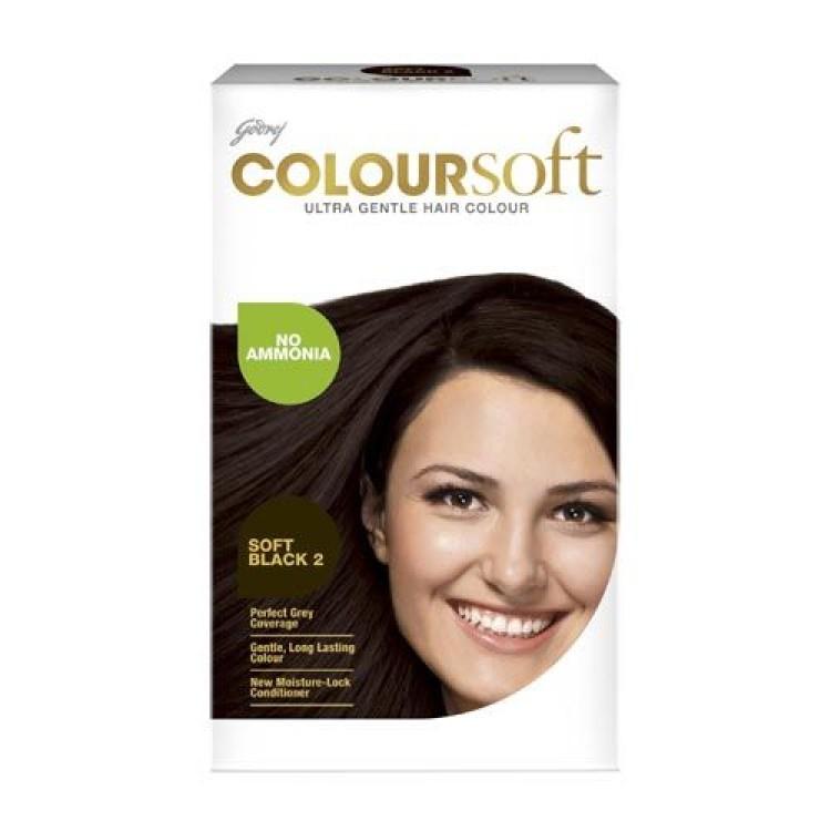 Godrej Color Soft Hair Color Ultra Gentle Soft Black 2