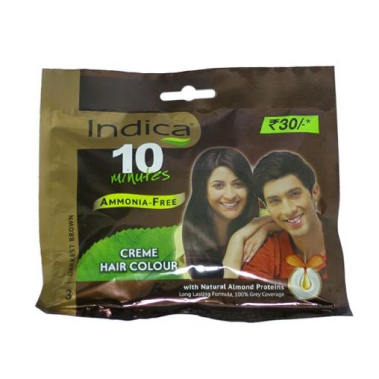 indica hair colour creme darkest brown 3