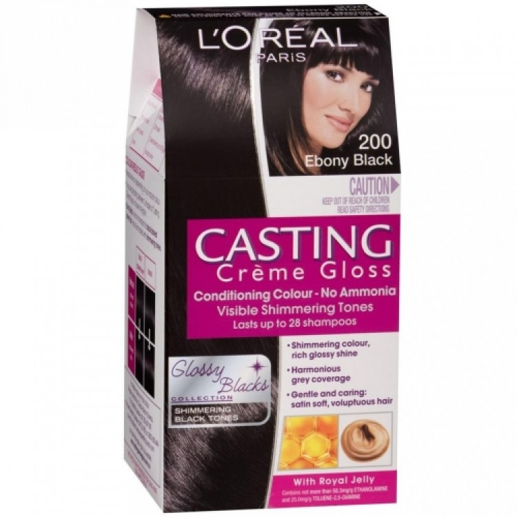 Ebony black hair dye
