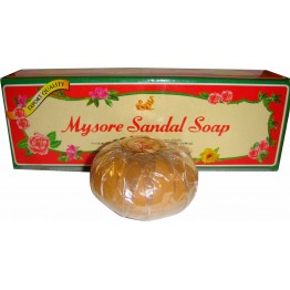 Mysore Sandal Bathing Soap - Superior with Pure Sandalwood Oil Soaps Bars & Liquids