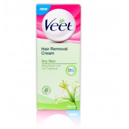 Veet Hair Removal Cream For Dry Skin. Shea Butter and Lilly Fragrance