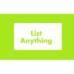 List Anything Upload the list others